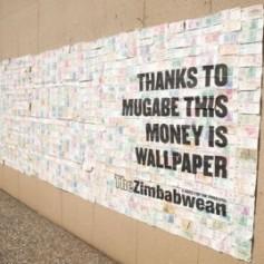 Gràcies a Mugabe, aquests diners són empaperat.