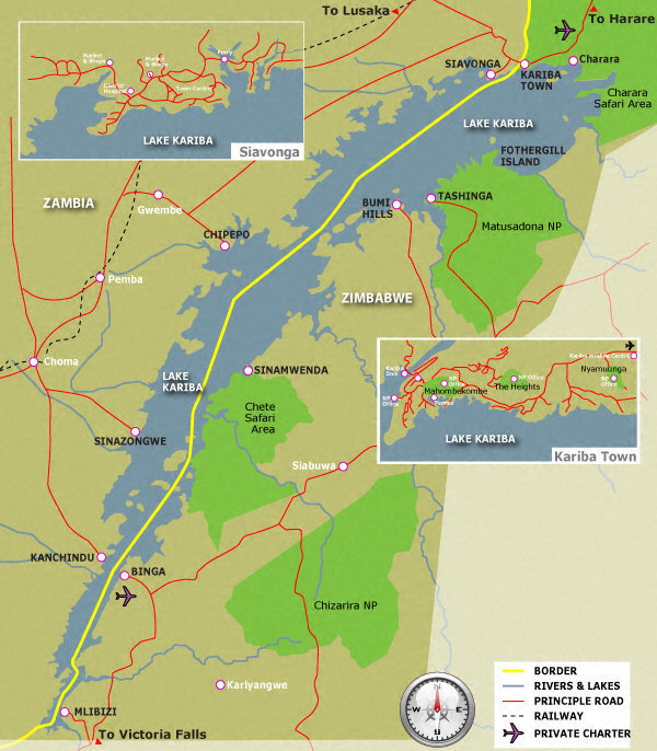 Lake Kariba Map