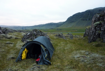 Acampada lliure al llarg del recorregut