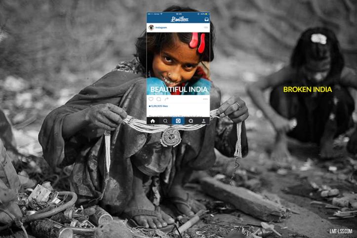 nena treballant broken india