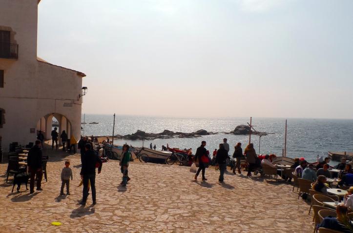 plaça portbo calella