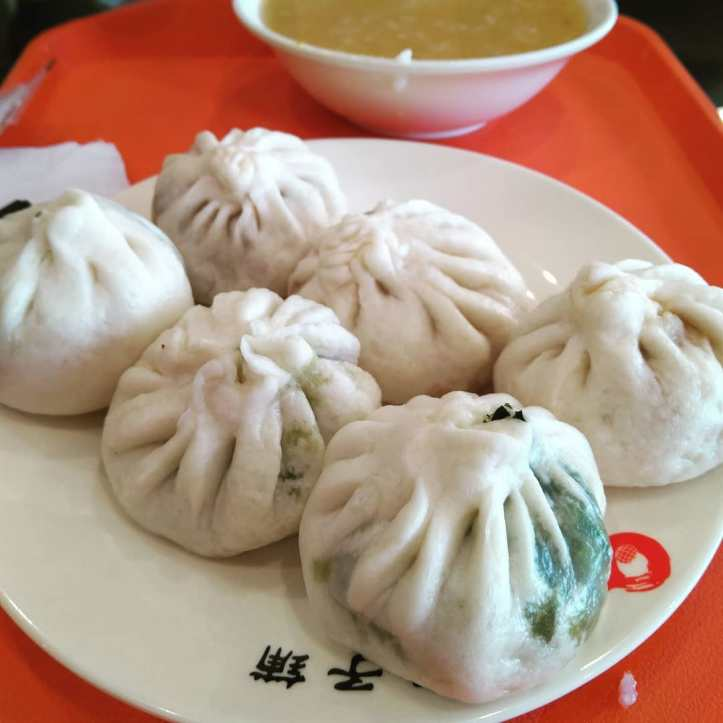 Dumplings d'espinacs al vapor per esmorzar