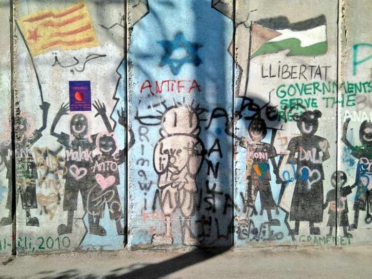 Secció del mur que separa Israel de Palestina, a Cisjordània